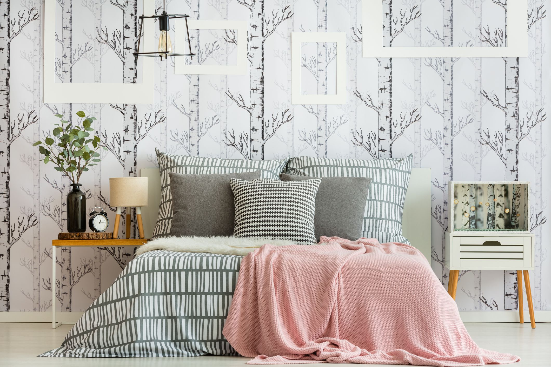 3 Beautiful Wallpapered Bedrooms