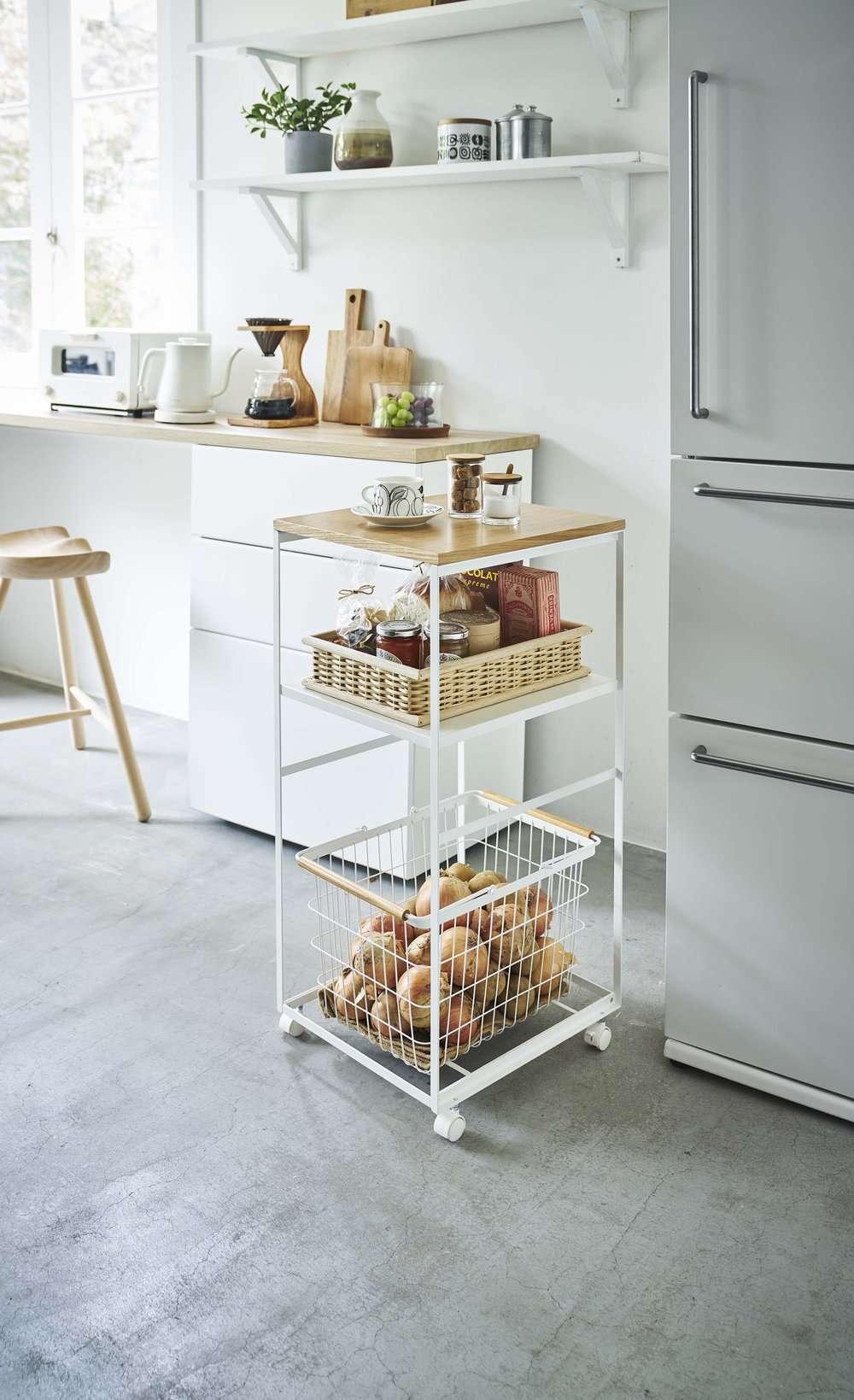 Rolling Kitchen Storage Wagon Cart