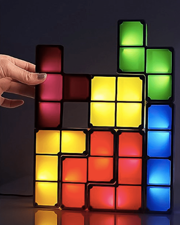 TACTBIT DIY Tetris Night Light, 7 Colors Stackable Tangram Puzzle