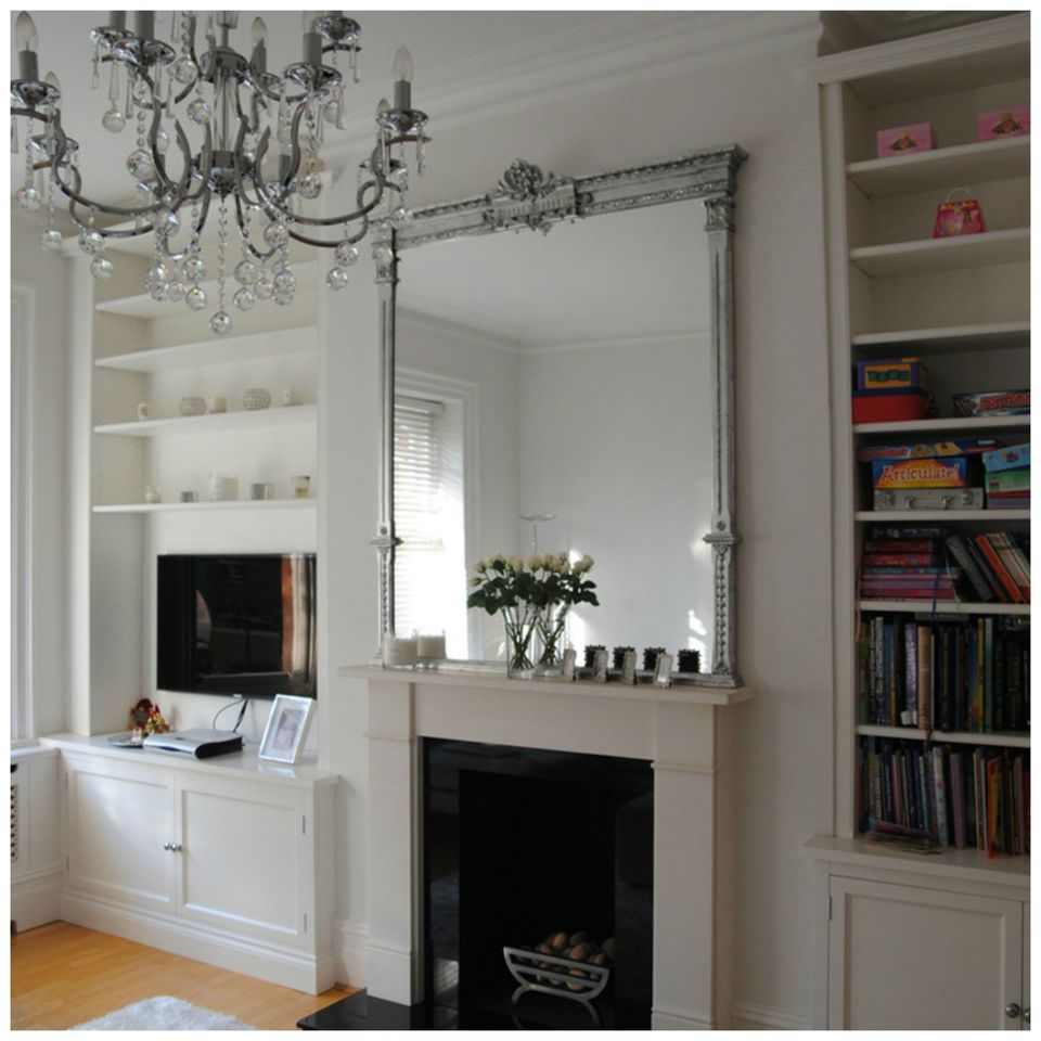Mirror over a Mantel
