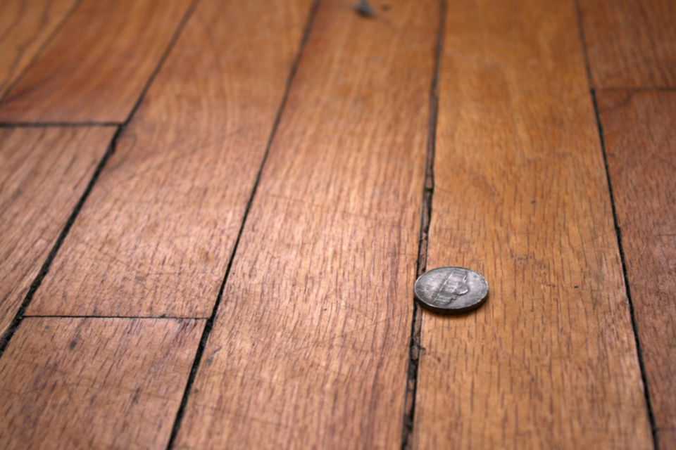 Wood Floor With Gaps Between Floorboards 1500 x 1000