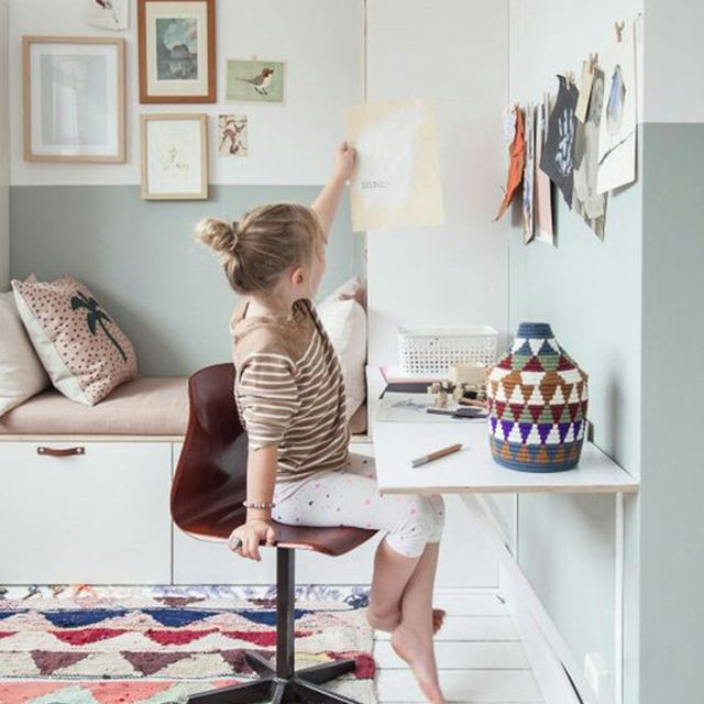 Space saving wall desk