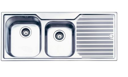 Oliveri Stainless Steel Sink With Drainboard