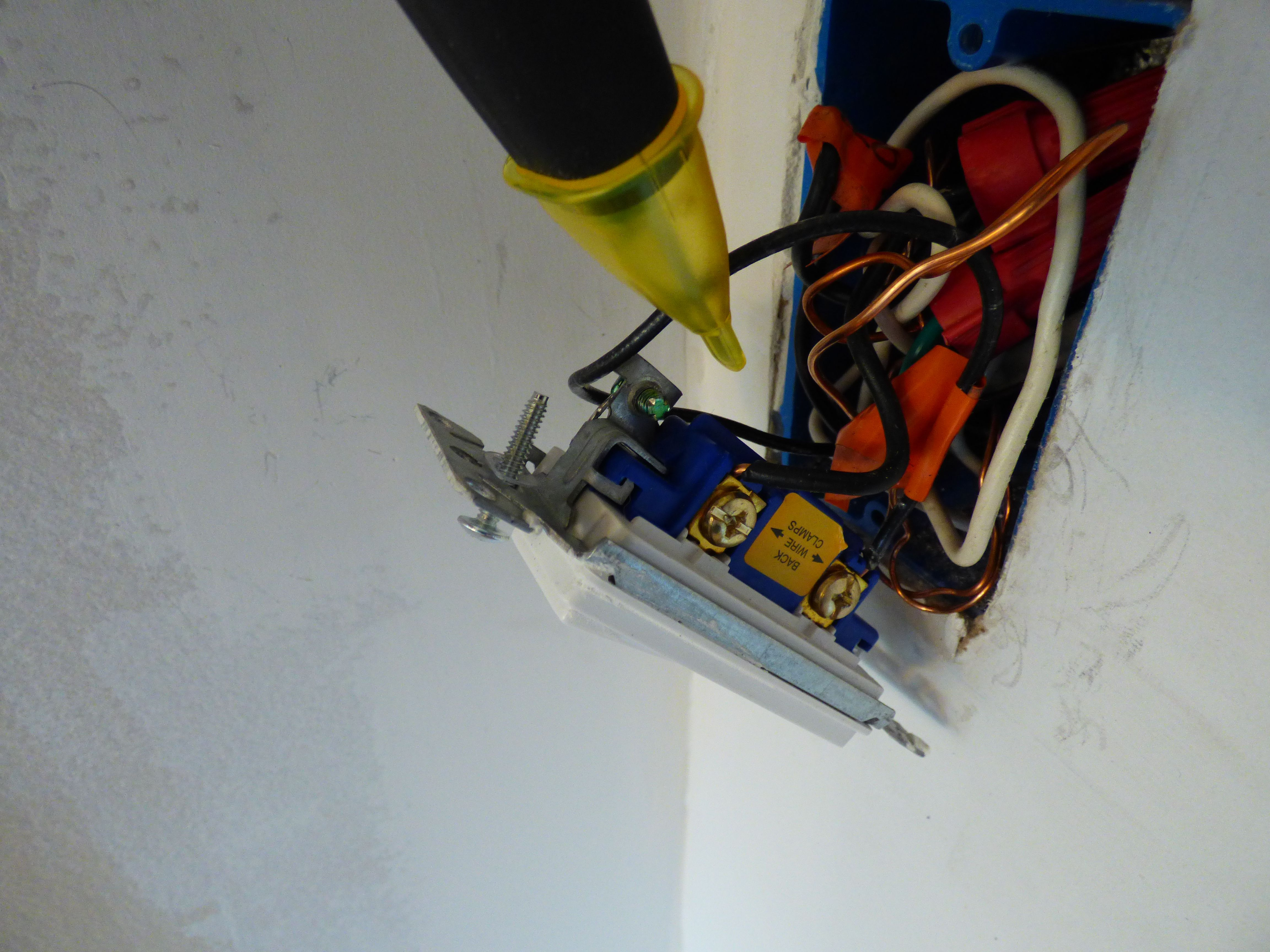 Install Dimmer Switch (Single-Pole)