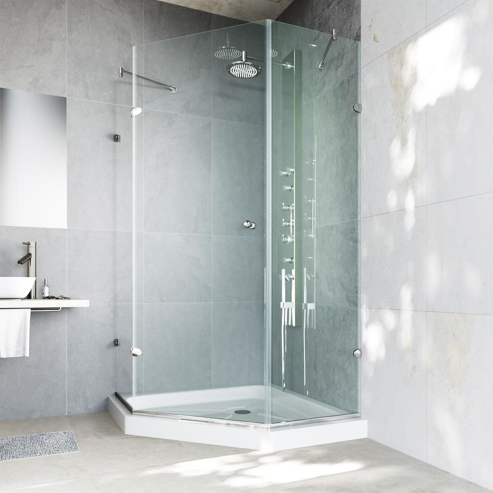 Best Frameless Shower Kit Vigo Neo Angle