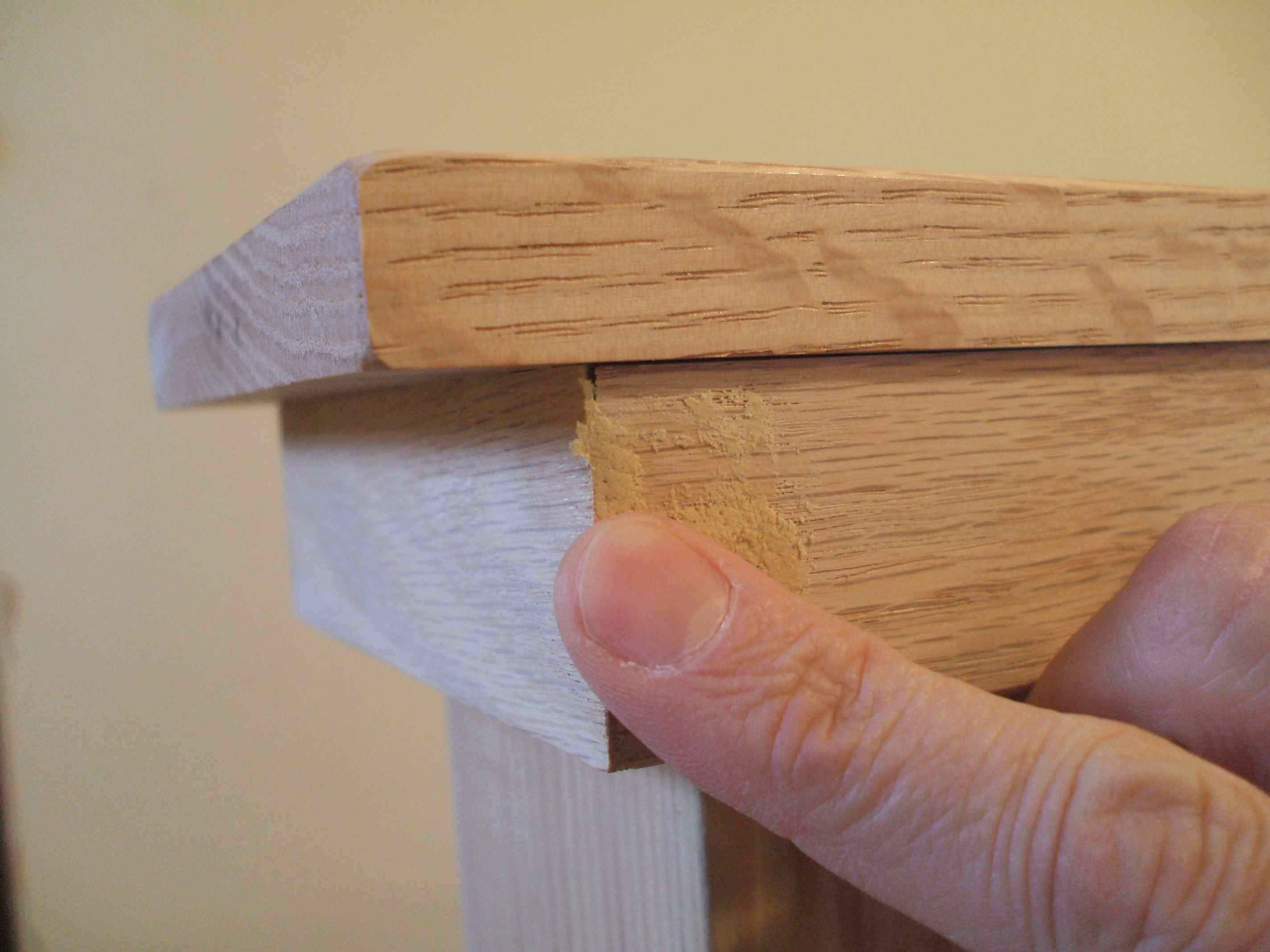 Wood Putty for Strong Bond - Press In With Finger