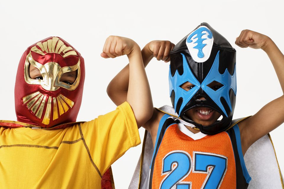 boys in luchador masks