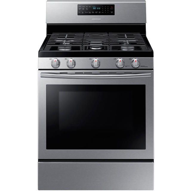 Samsung 30 in. 5.8 cu. ft. Gas Range with Self-Cleaning and Fan Convection Oven in Stainless Steel