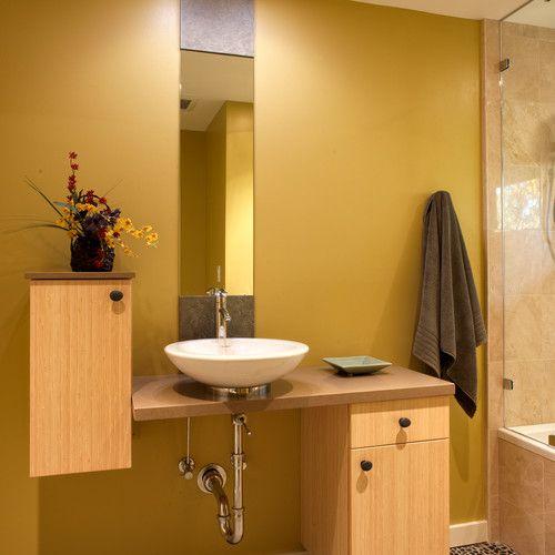 modern bathroom vanity mustard bathroom