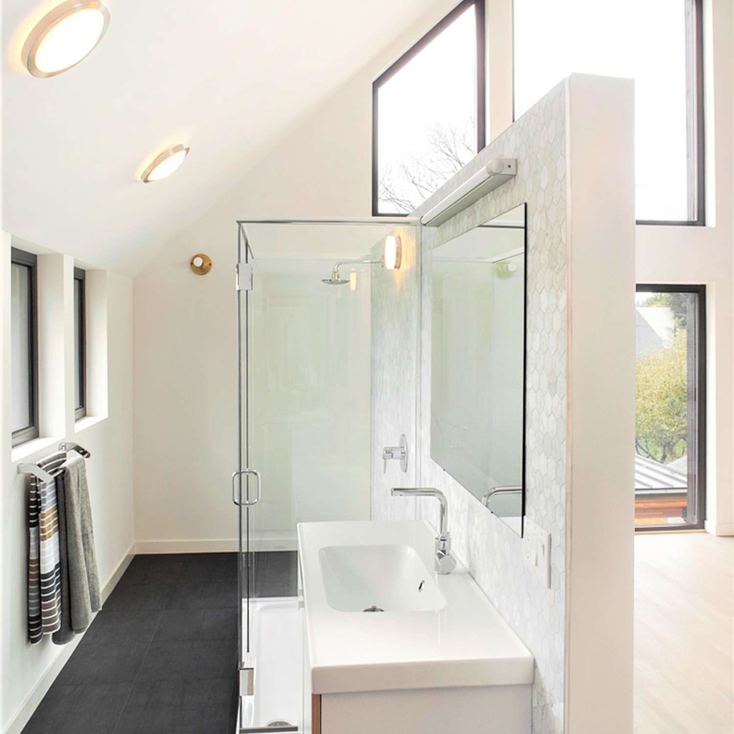 Spacious Open-Air Shower for Bathroom Remodel