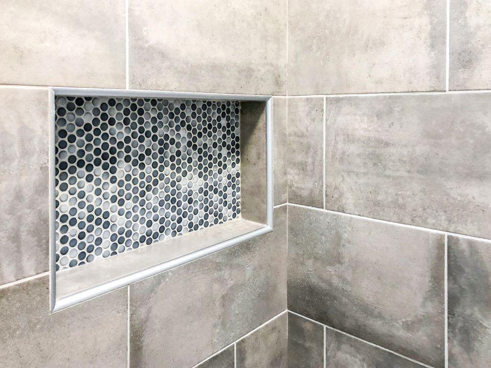 Shower ceramic tiles