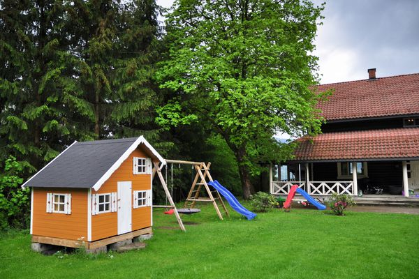 playhouse in the backyard