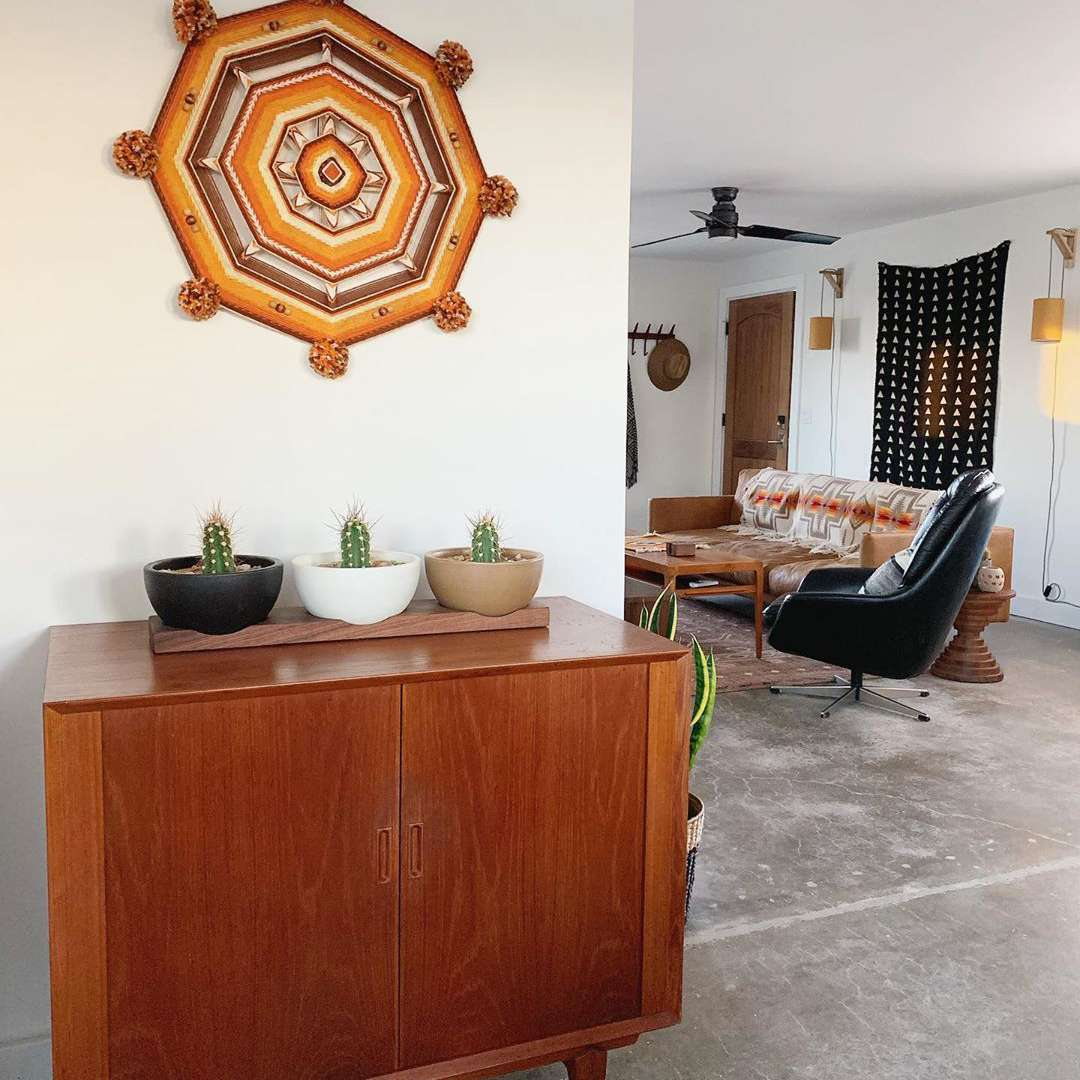 Living room with southwestern decor
