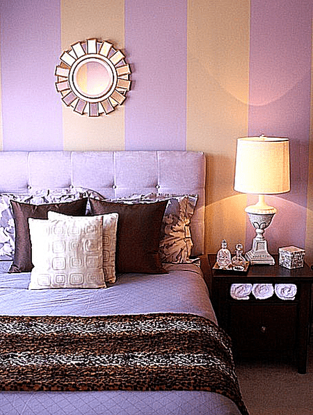 Yellow Purple Contemporary Bedroom Guest