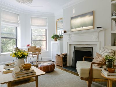 living room with neutral decor