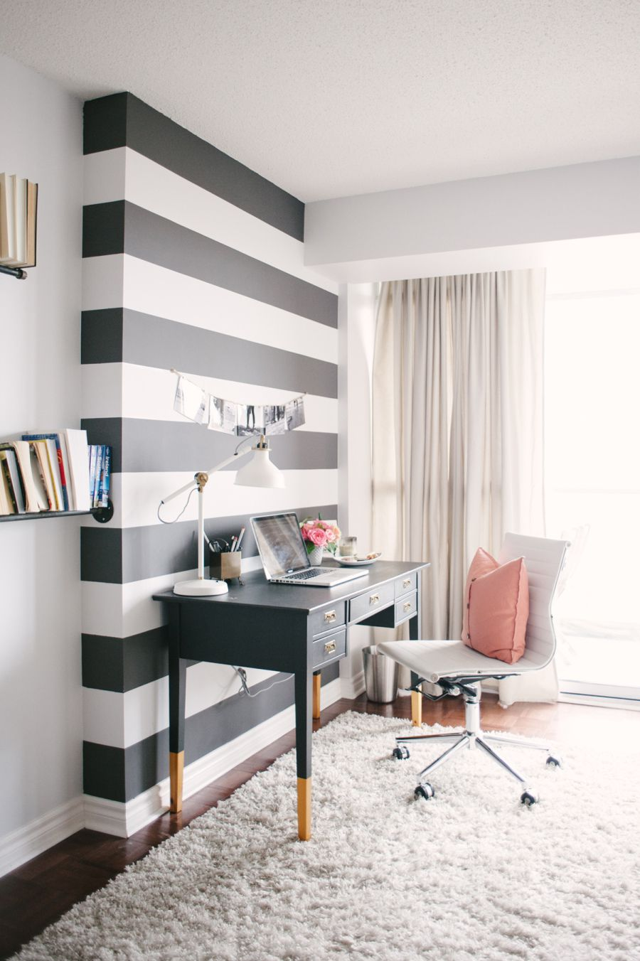 striped accent wall