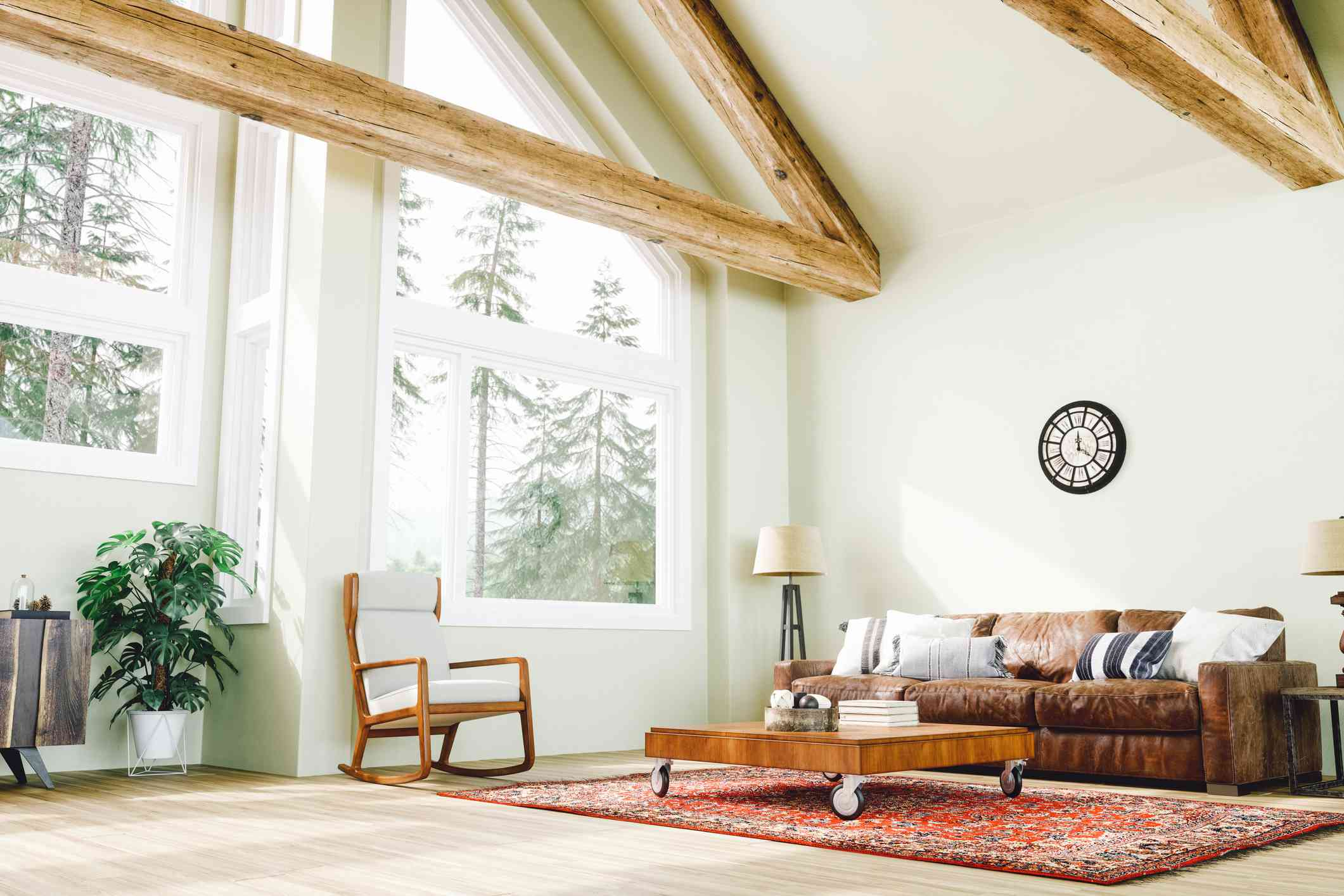Modern rustic French country living room