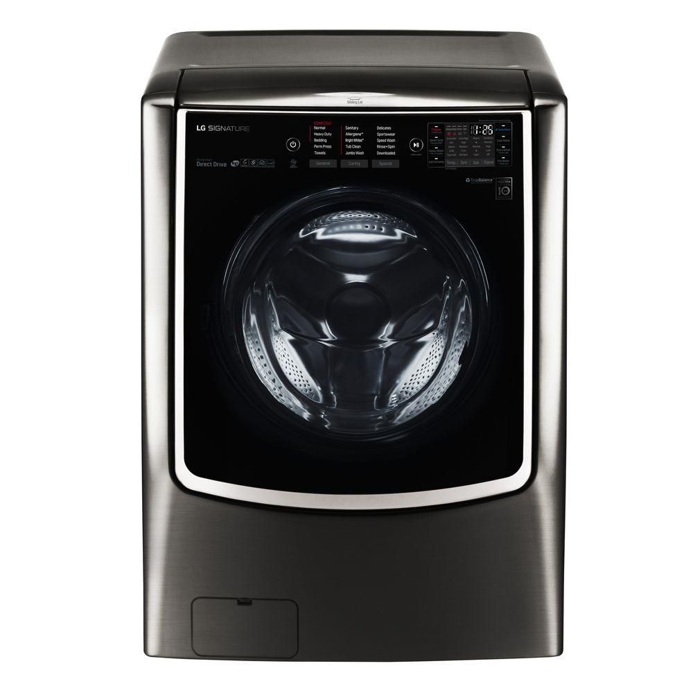 Best High End Lg Signature 5 8 Cu Ft Efficiency Smart Front Load Washer With Turbowash And Steam