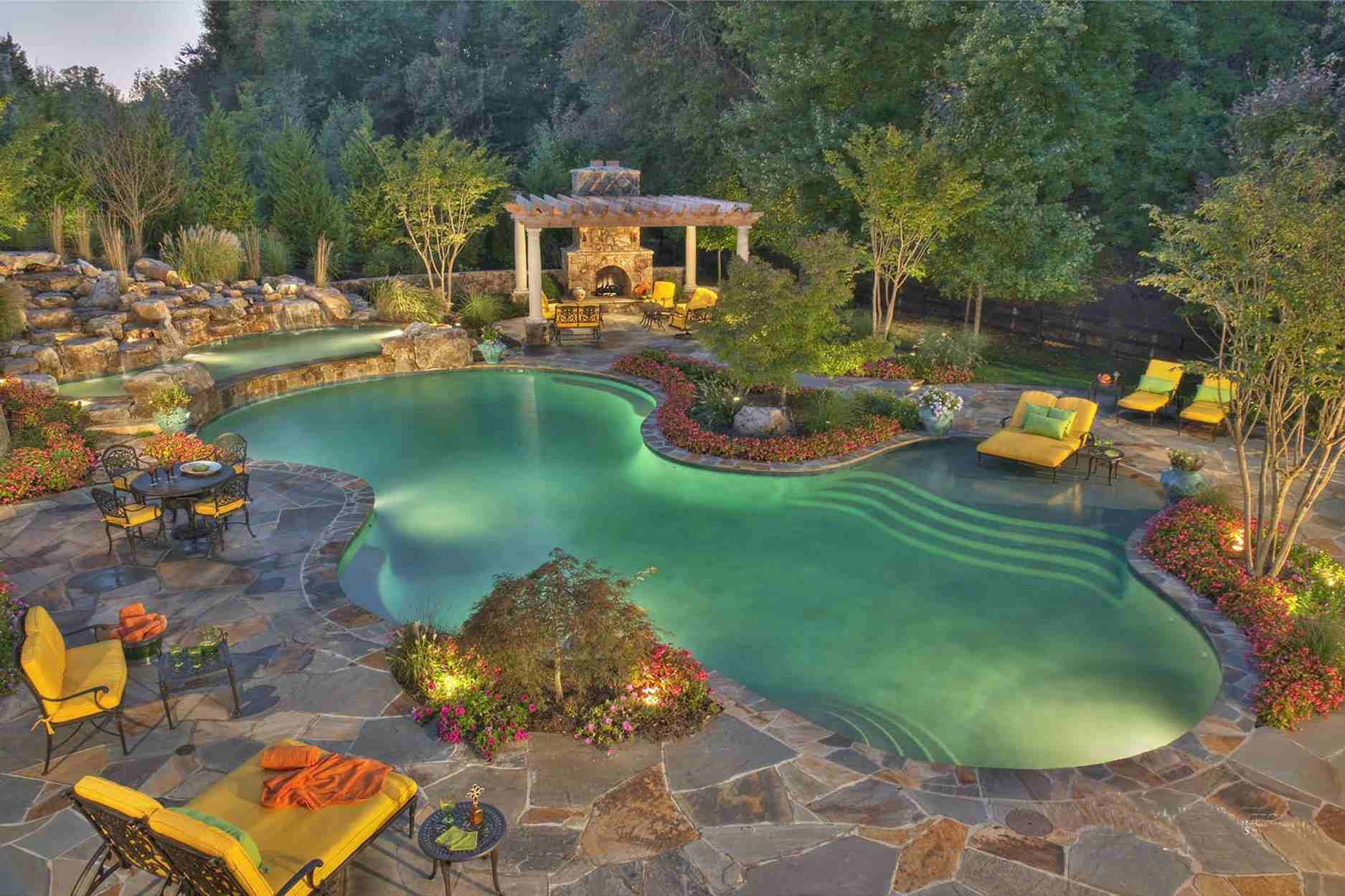 24 Beautiful Mediterranean Pool Designs