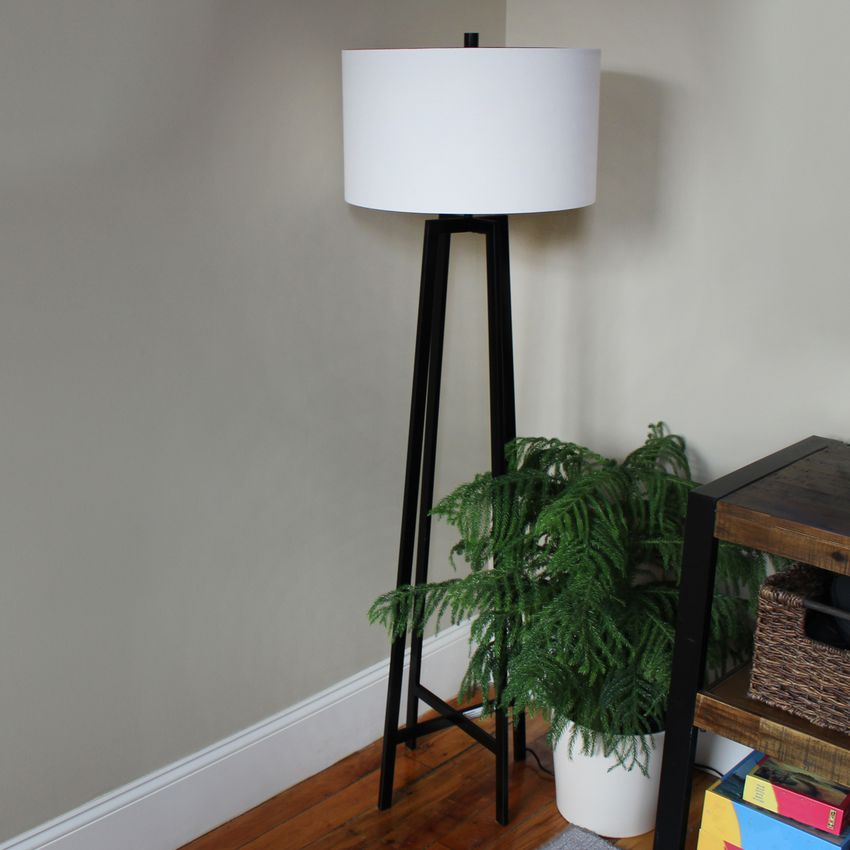 Stone & Beam Deco Metal Frame Living Room Standing Floor Lamp