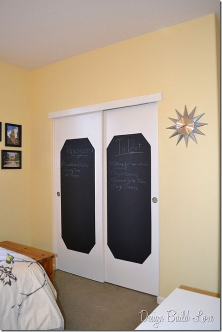 turn your closet doors into a chalkboard - Bedroom Closet Doors