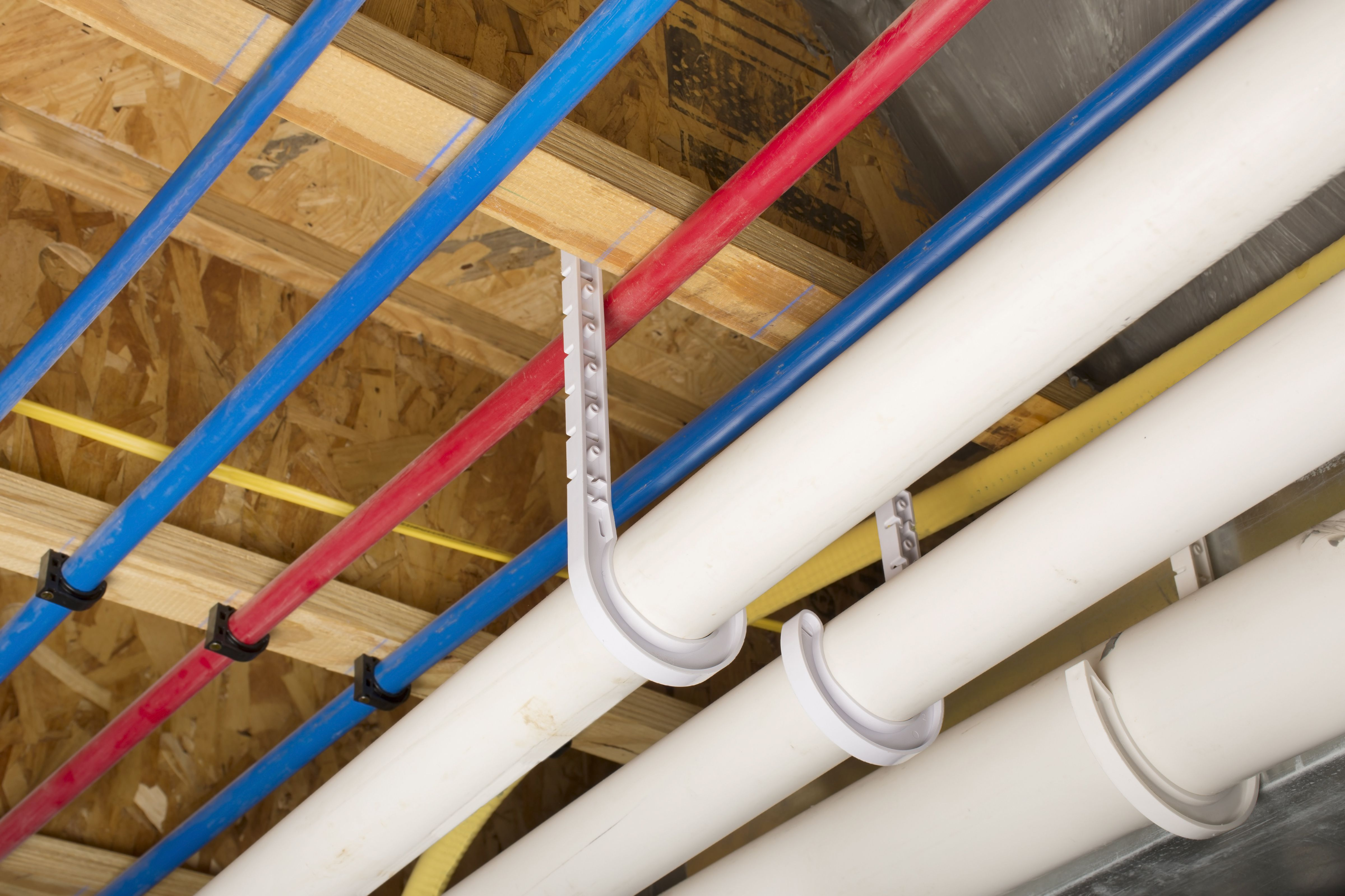 PEX and drain pipes