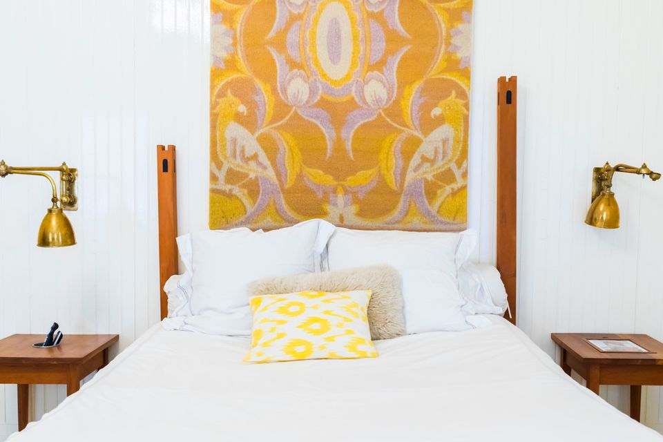 Yellow accent bedroom