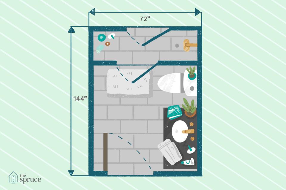 3x5 Closet Layout