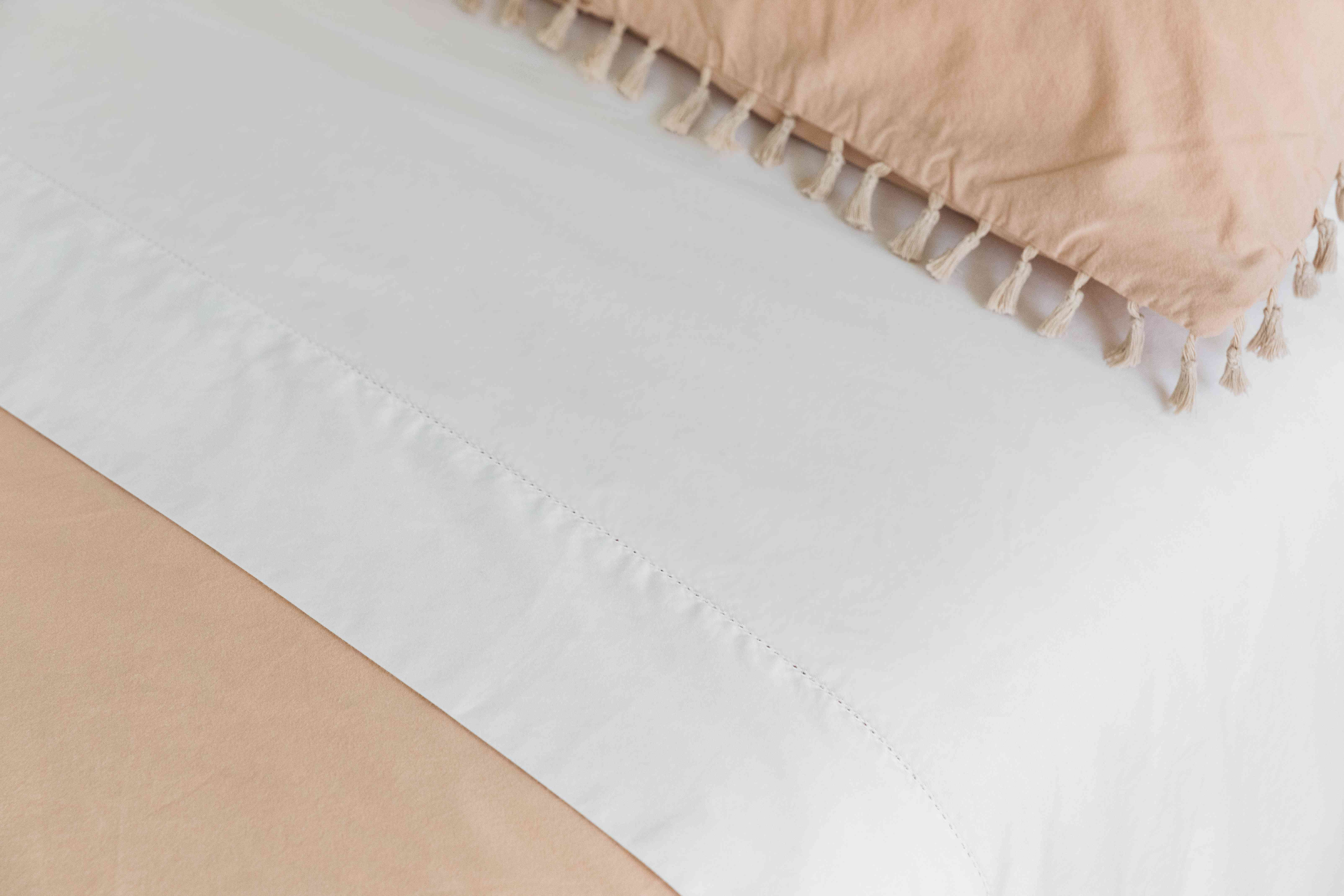 neatly folded and tucked sheets
