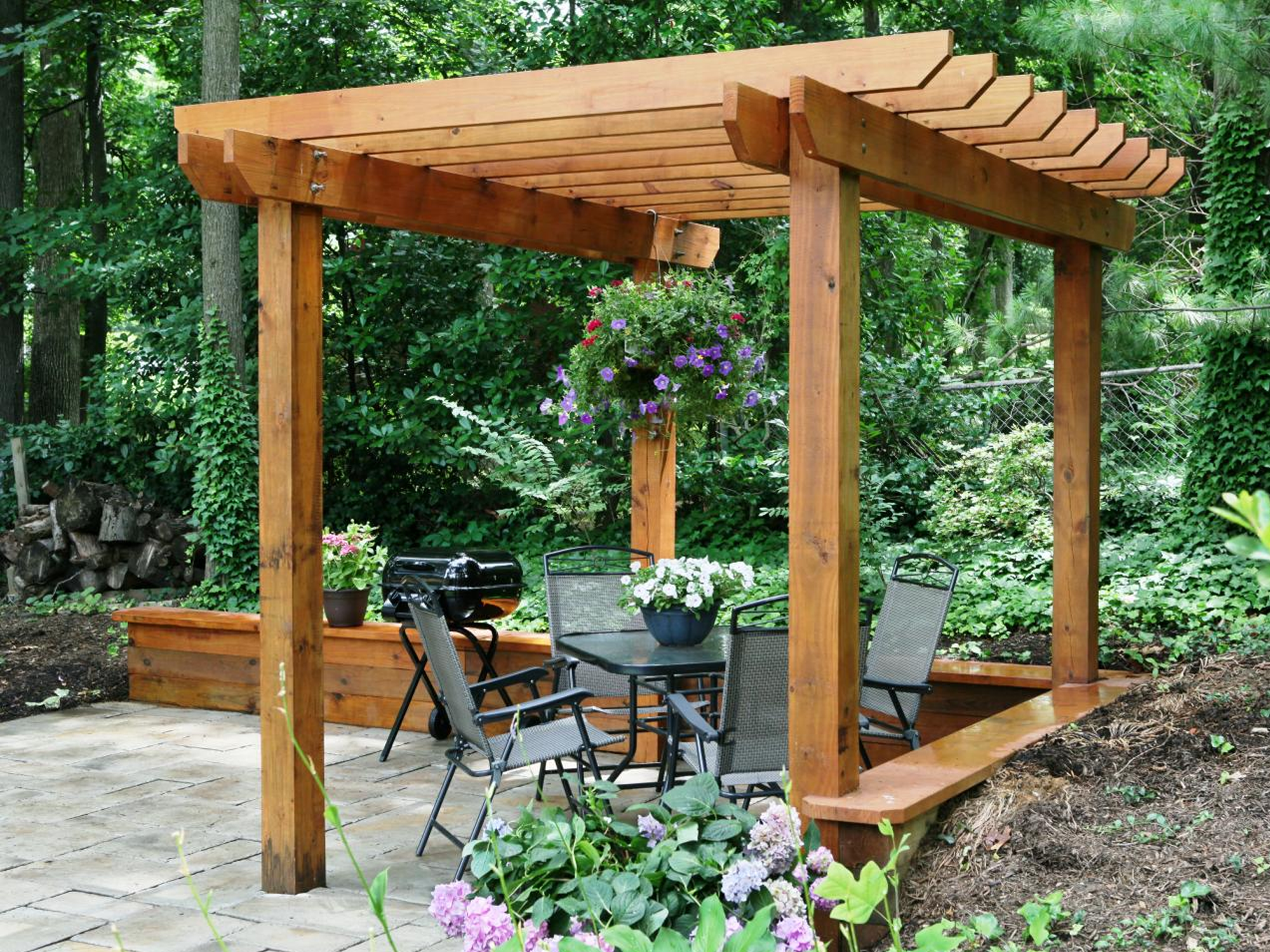 Pergola Over A Deck Plan By Diy Network