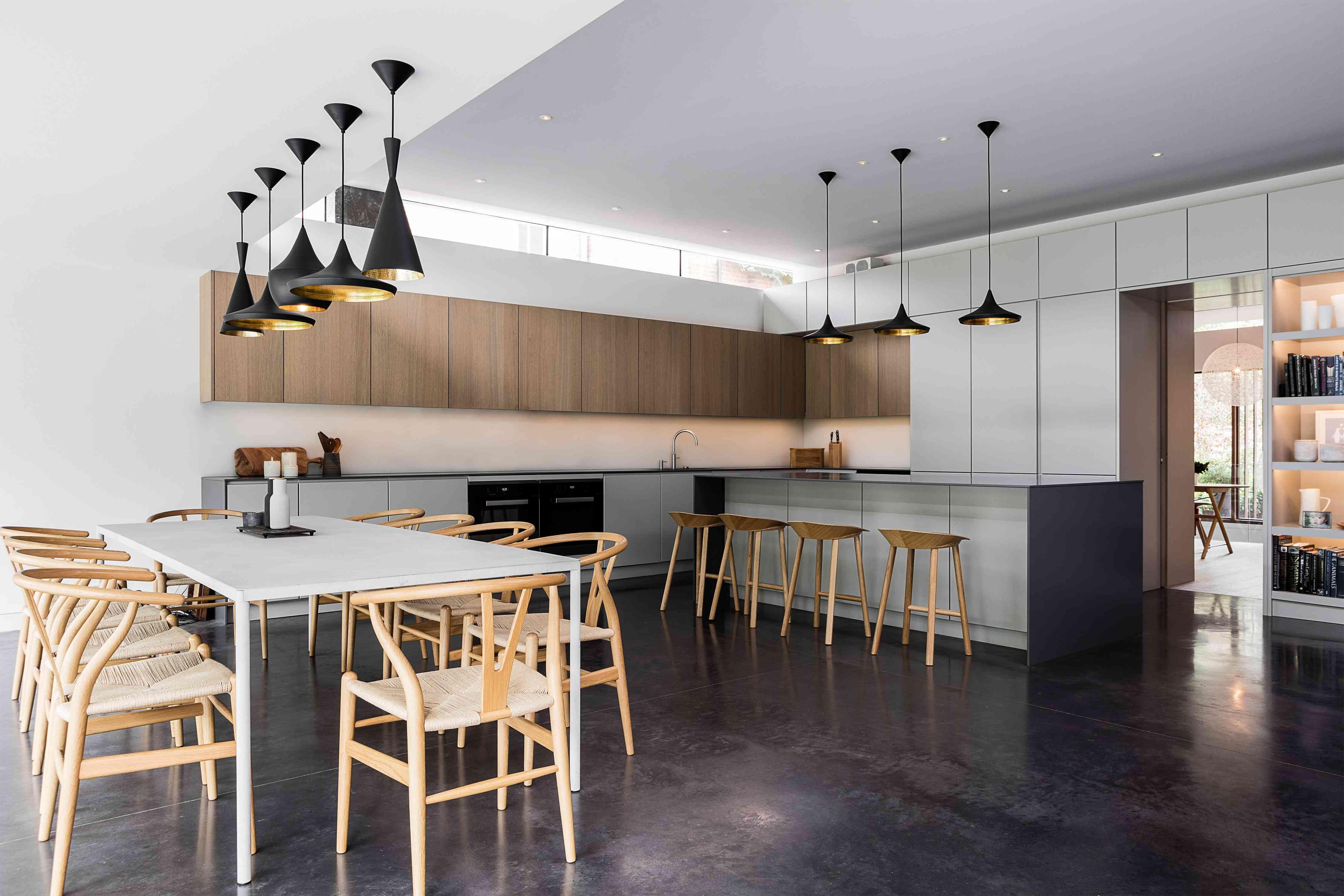 Cocina abierta inspirada en el país francés