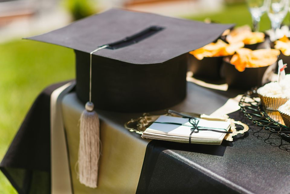 Graduation party tablescape