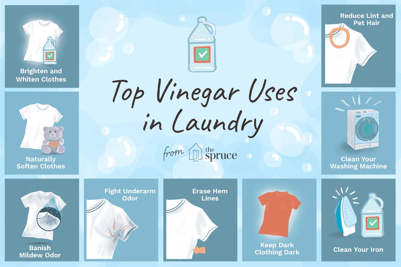 10 usos principales para el vinagre en la lavandería