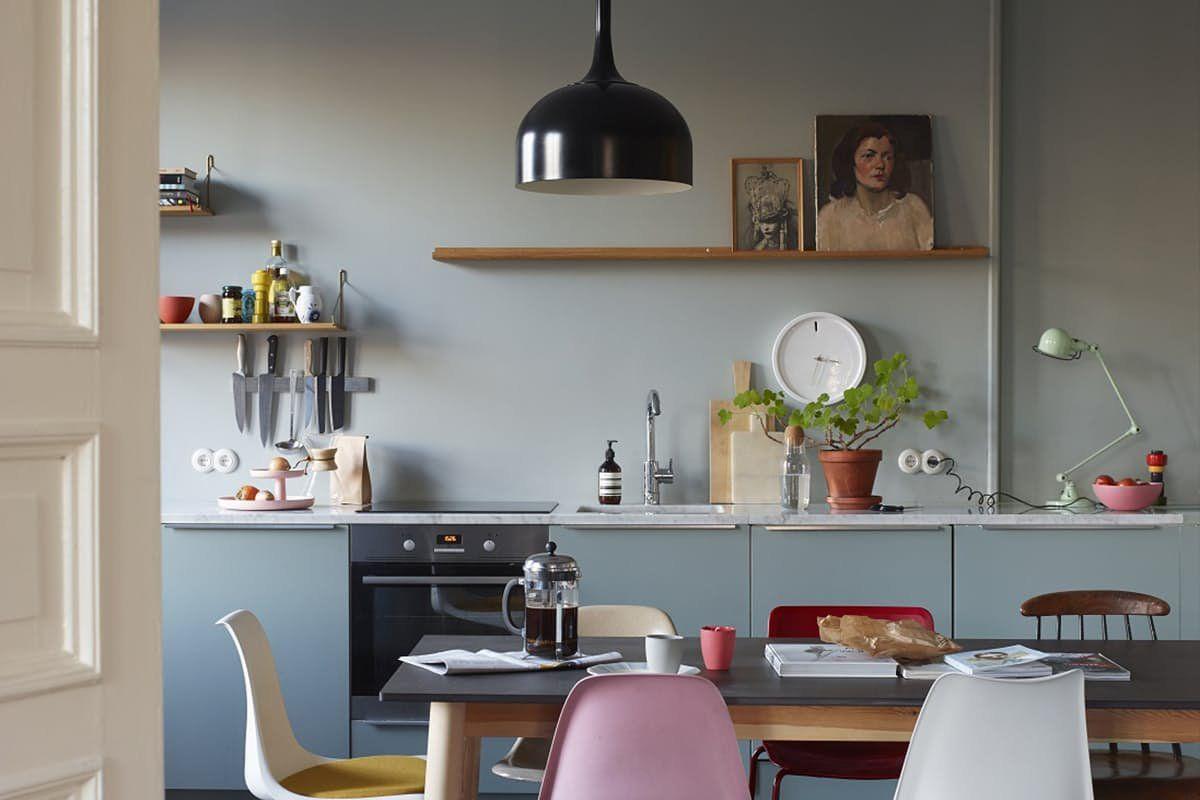 Muted-blue-kitchen-Scandi-Style