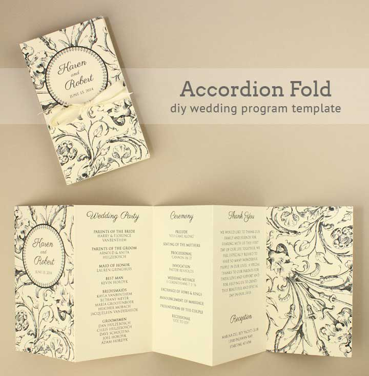Free Wedding Program Templates You Can Customize - Wedding program cover templates