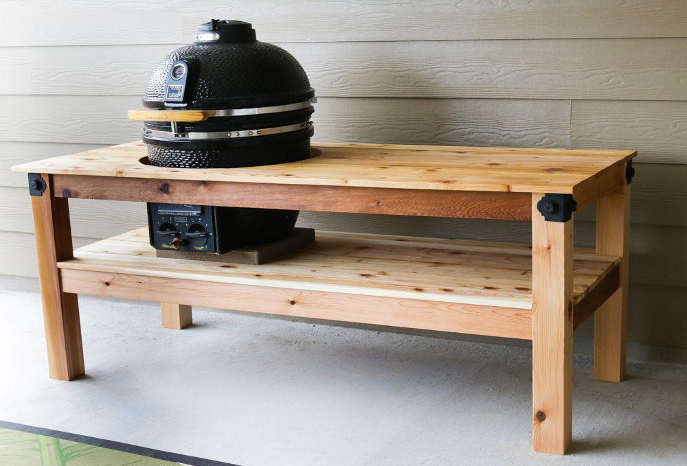 DIY BBQ Grill Countertop