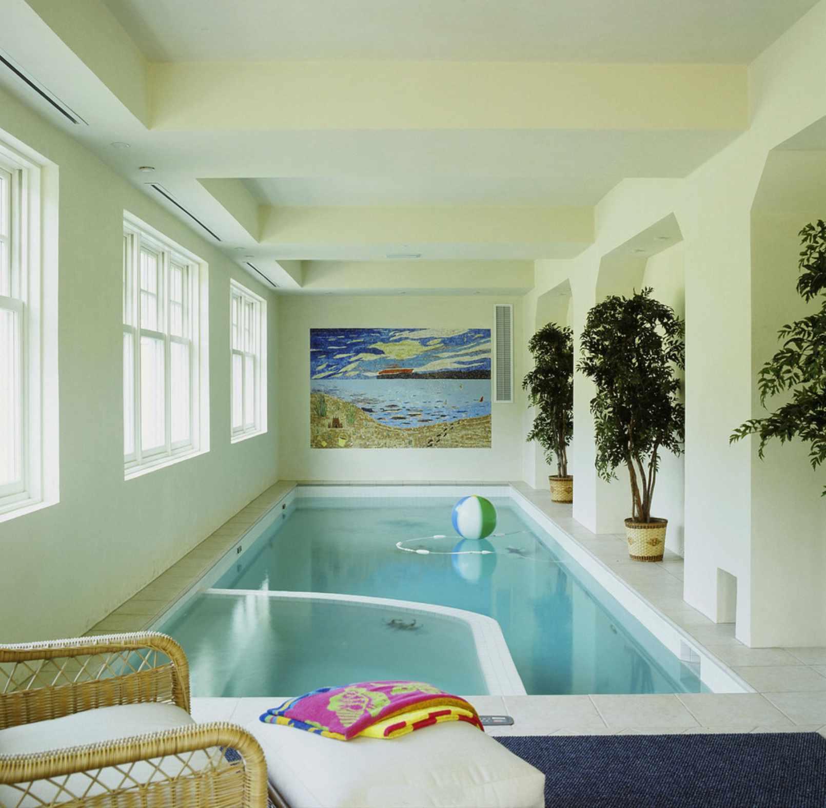 scenic indoor swimming pool design