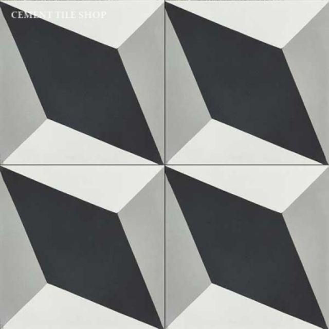 grand harlequin black and white tile