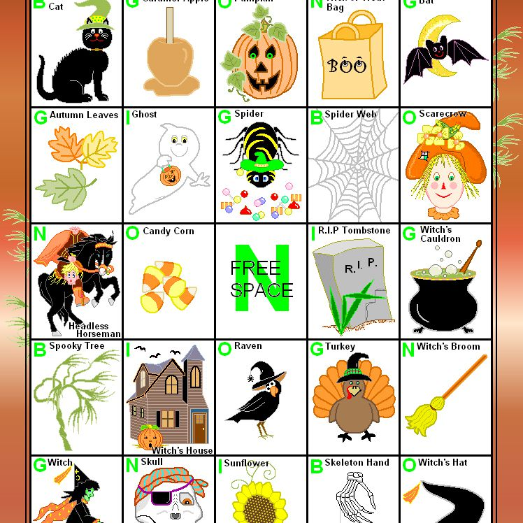 16 Sets Of Free Printable Halloween Bingo Cards