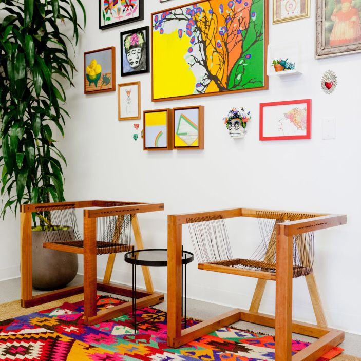 colorful eclectic wall