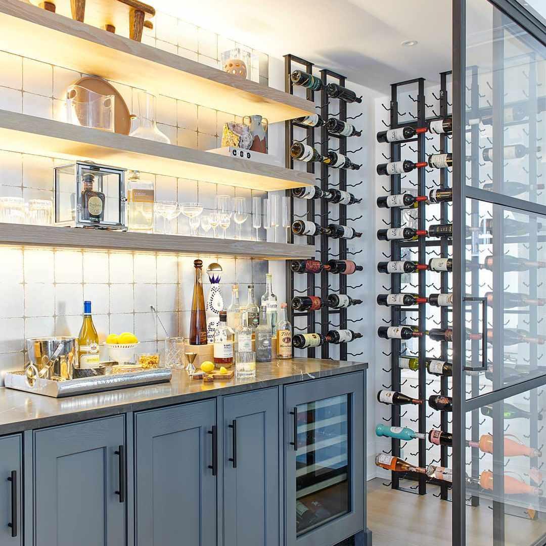 Home bar with wine racks