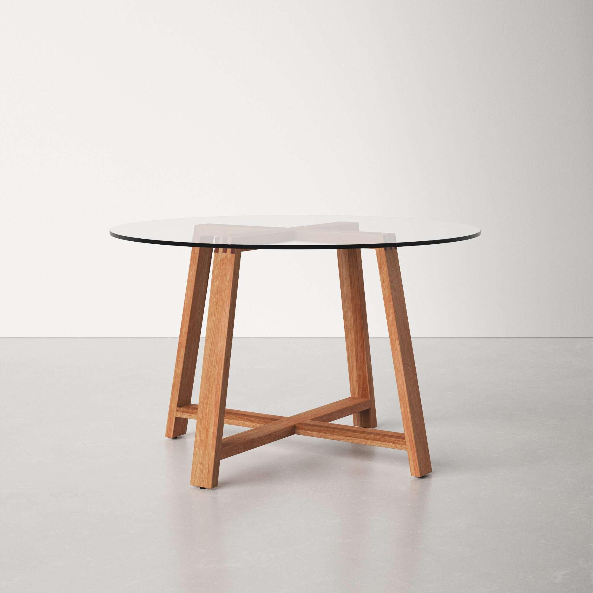 AllModern Devera Glass Dining Table