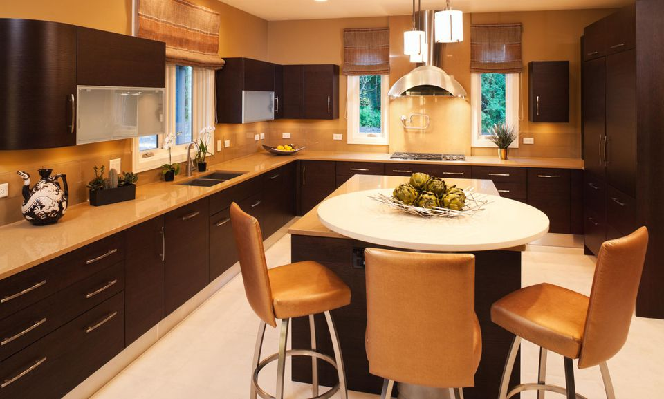 Residential kitchen with clean modern look.