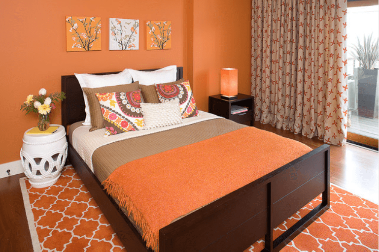 Orange Bedroom Ideas Simple Brown And Orange Bedroom Ideas