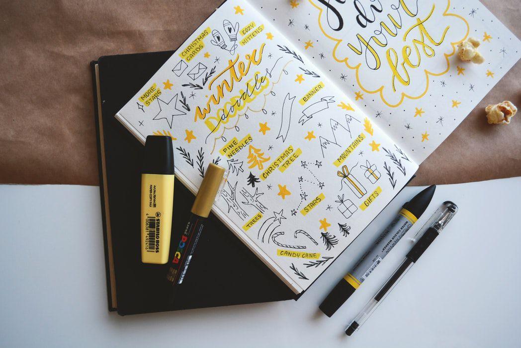 bullet journal doodles for beginners