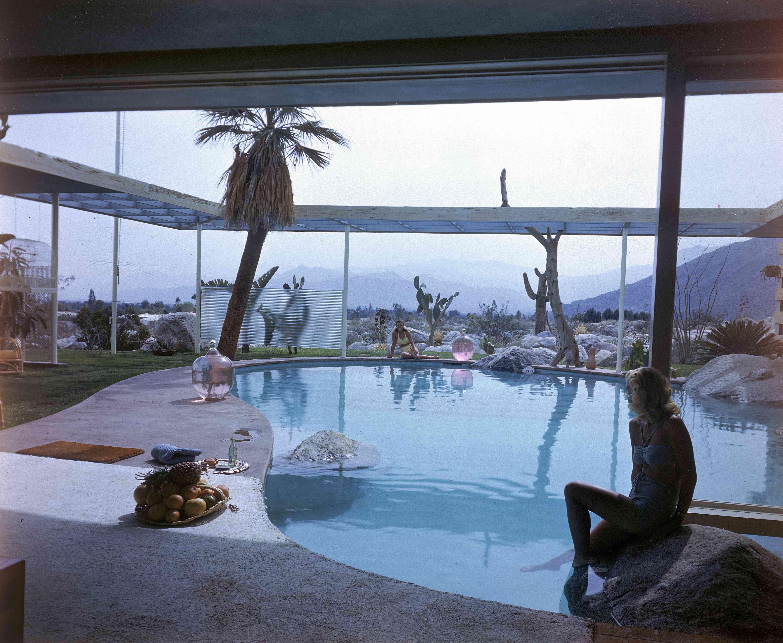 Indoor/Outdoor Midcentury Pool at Loewy House