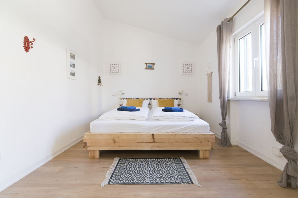bedroom with hardwood floors