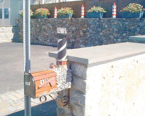 Buzón de piedra de faro