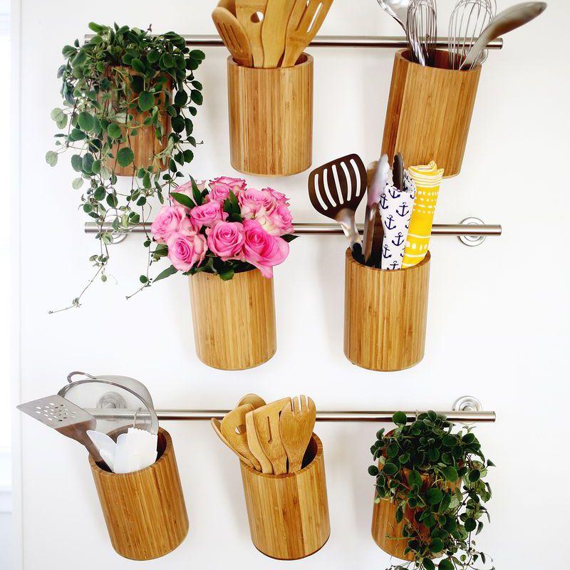 Vertical kitchen storage containers