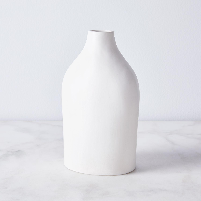 Looks Like White Handmade Porcelain Bottle Vase